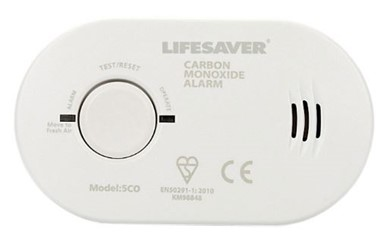 One of the Kidde carbon monoxide alarms sold through the Safelincs Headway shop