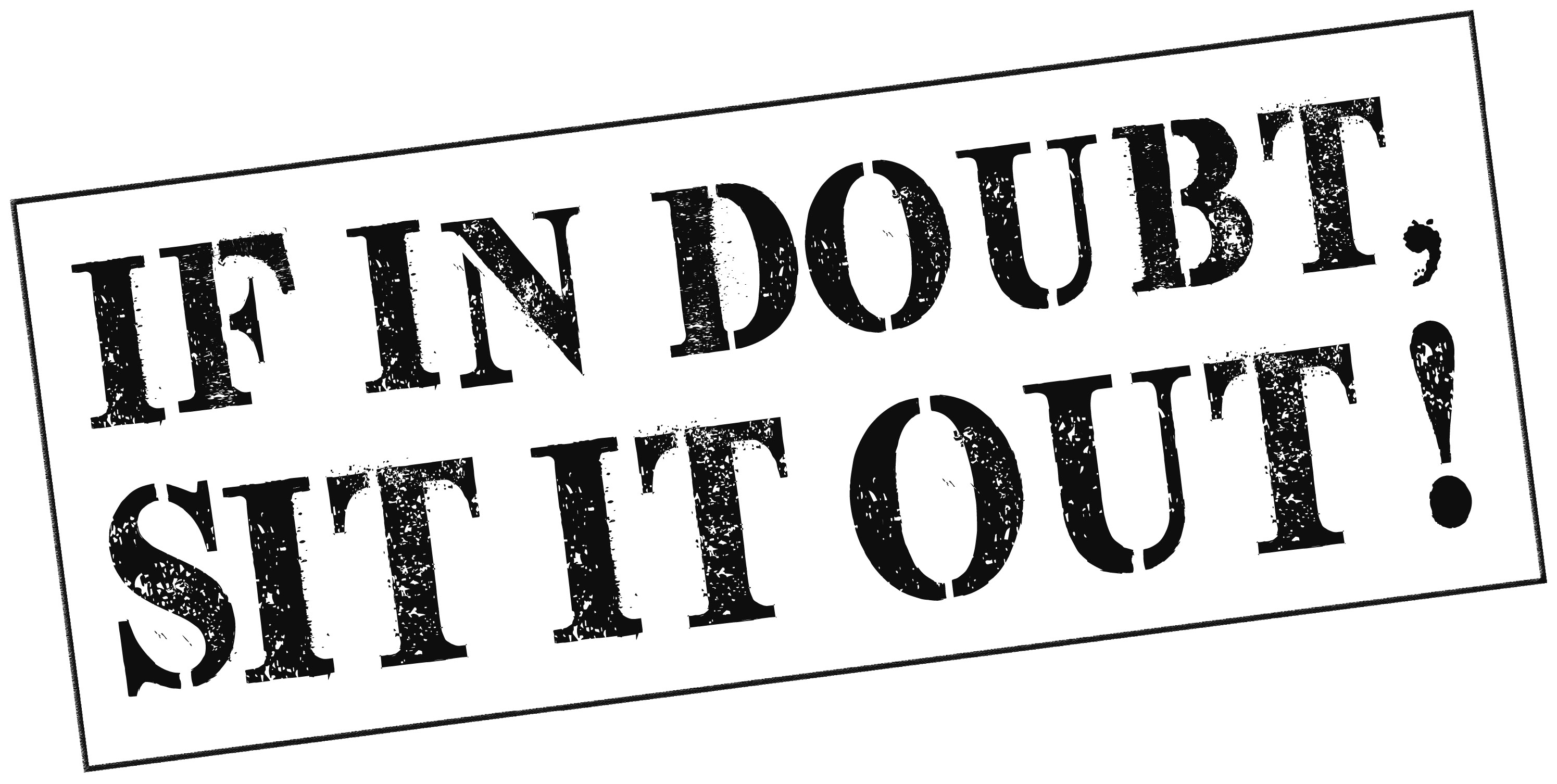 Headway's 'If in doubt, sit it out' campaign logo