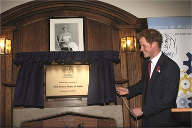 Prince Harry officially opens Headway's new home in 2013