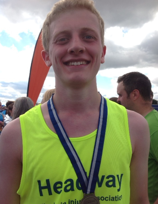 Peter went on to complete the Great North Run for Headway