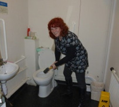 DIY SOS-style makeover for the Headway Worcestershire toilets! Main Image