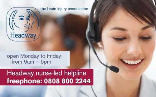 The Headway helpline card