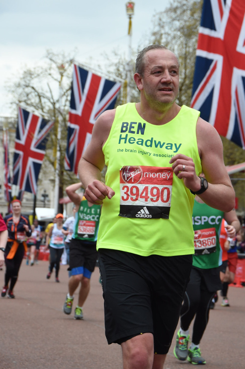 Ben Nicholl from Majestic Wines raises over £2,800 at the London Marathon