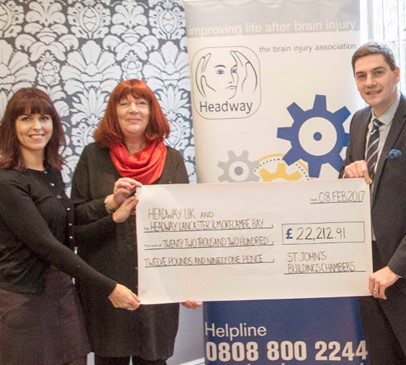 St John's Buildings raises £22,000 in Headway Challenge Baton year Main Image