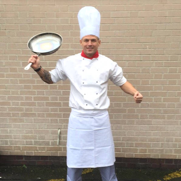 Lewis Lafferty will be attempting to break the Guinness World Record for the fastest runner in a chef costume.