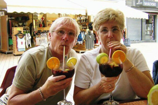 Andy and Janet Malcolm on holiday before his brain injury