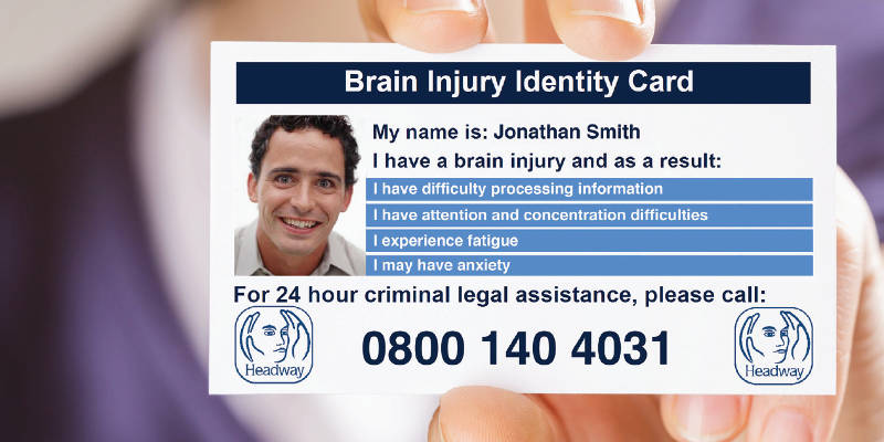 Headway Brain Injury Identity Card