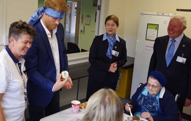 Prince Harry learns about the effects of brain injury.JPG