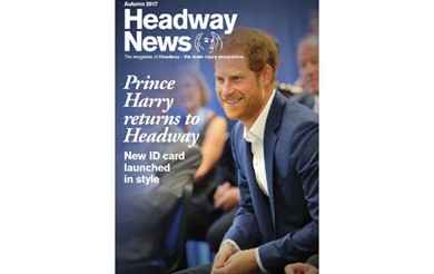 Prince Harry returns to Headway - new brain injury ID card launched in style features on the front cover of Headway News autumn 2017