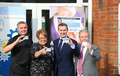 The Headway Brain Injury Identity Card official launch in Scotland