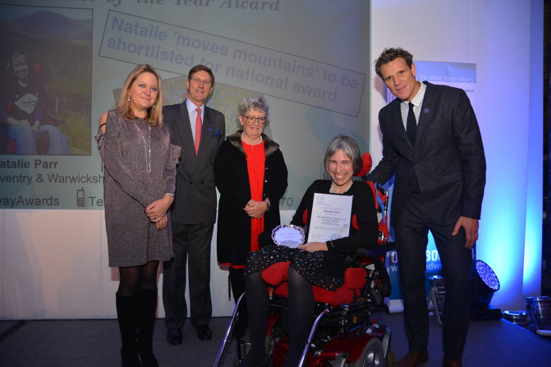 Natalie Parr collects her Headway Achiever of the Year Award
