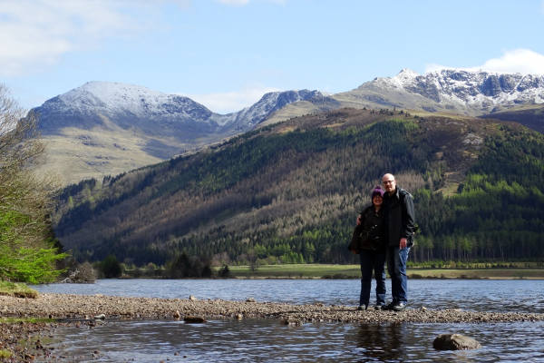 Philippa and her boyfriend Matt in the Lake District three years ago