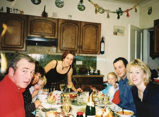 Christmas 1997, a few weeks after dad's stroke