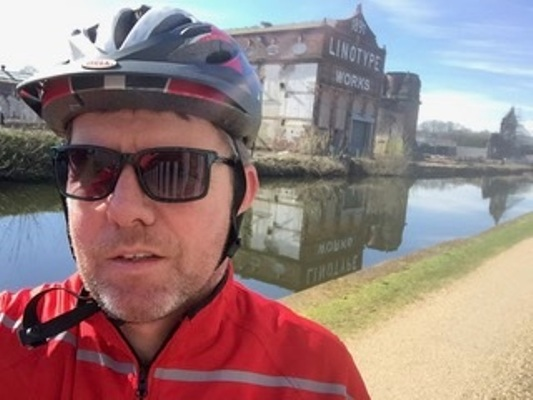 Rod training for a 100mile bike ride he completed for Headway
