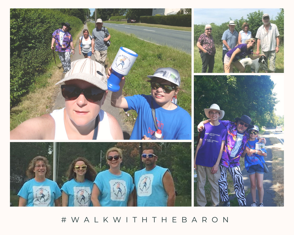 Supporters around the world took part in #WalkWithTheBaron