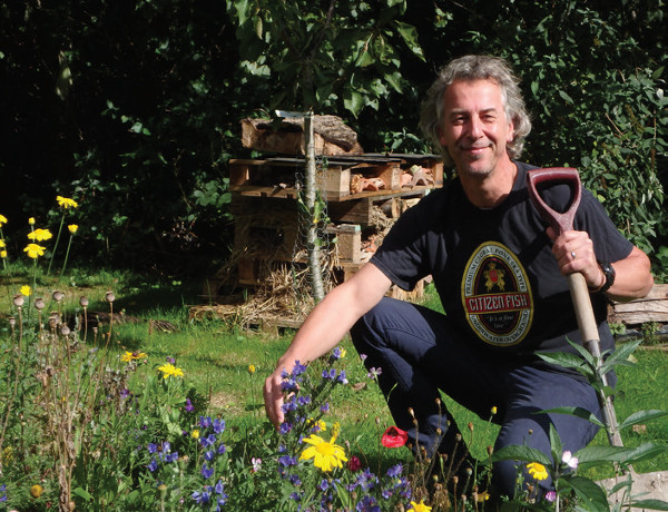 Adam Bailey volunteers at Headway Cambridgeshire's gardening project