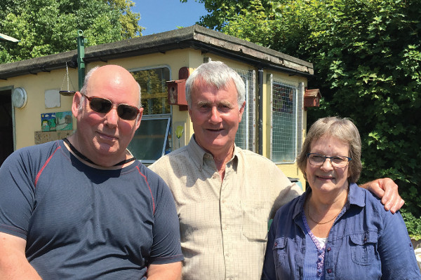 Richard, Joe and Ruth at Headway Derby's allotment