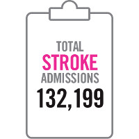 Total stroke admissions 132,199