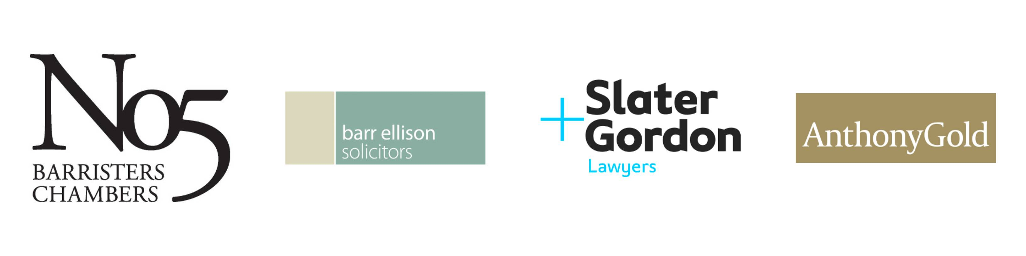 The Headway Annual Awards 2018 is kindly sponsored by No5 Barristers Chambers, Barr Ellison Solicitors, Slater and Gordon Lawyers, Anthony Gold