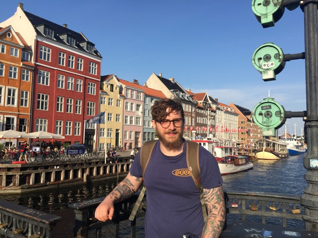 Chris on holiday in Denmark
