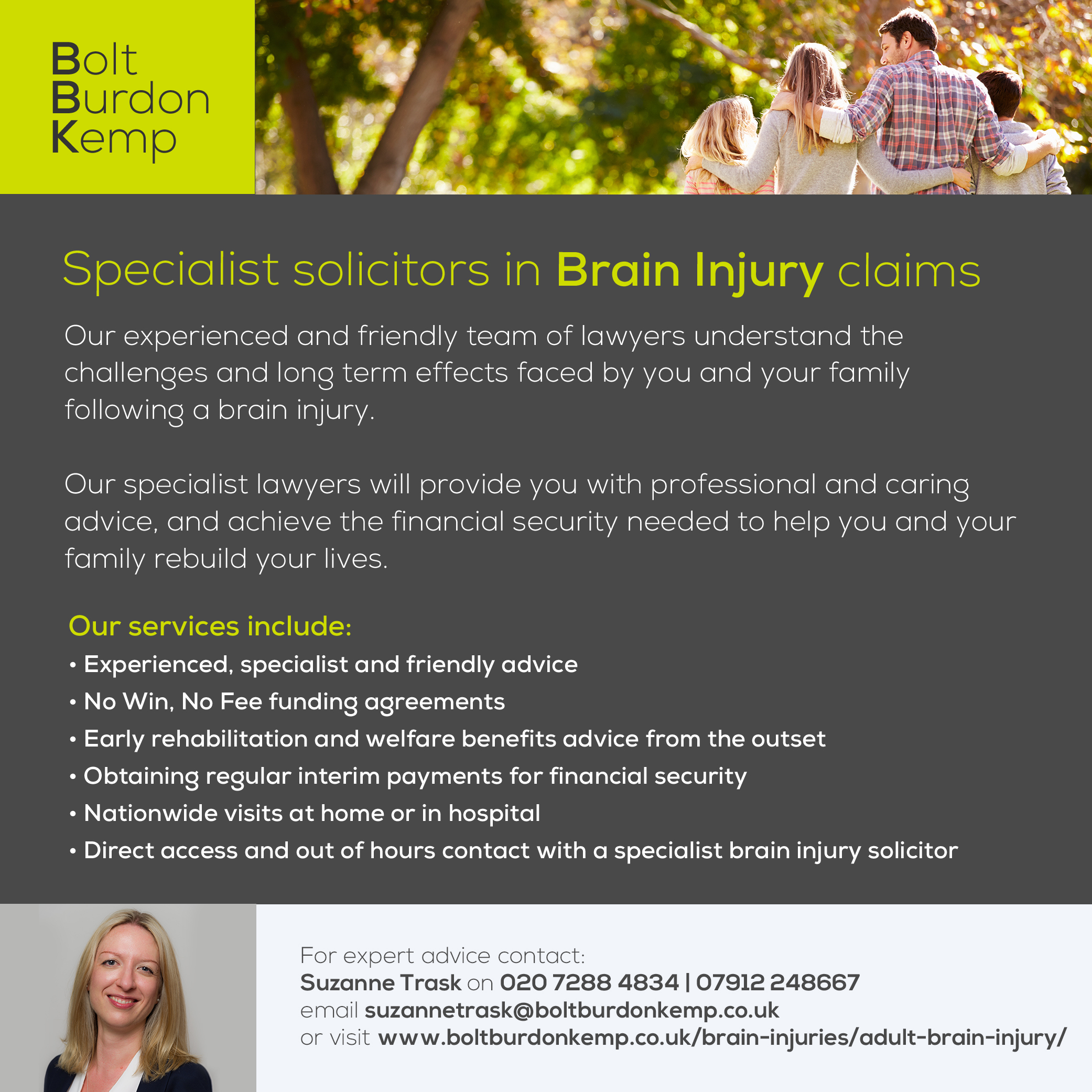 Bolt Burdon Kemp Advert