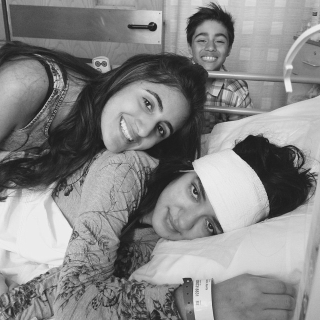 Kavita, Jasmine and Jay in hospital
