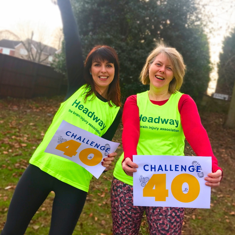 Headway staff Anna and Clare take on Challenge 40 to help improve life after brain injury!