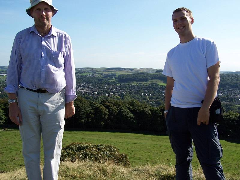 Chris and his dad, Geoff