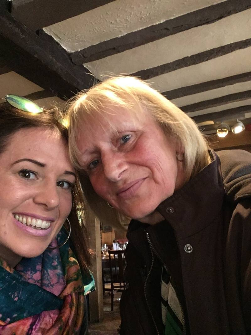 Nicola with her mum
