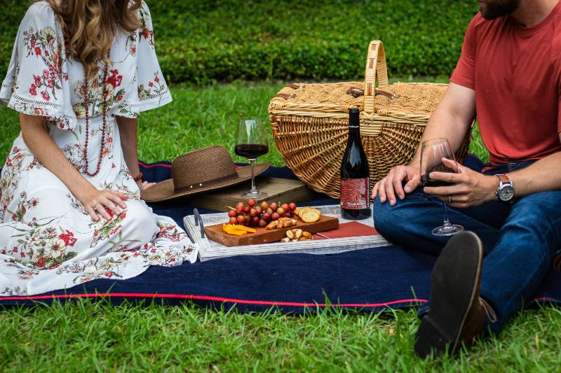 A couple having a picnic