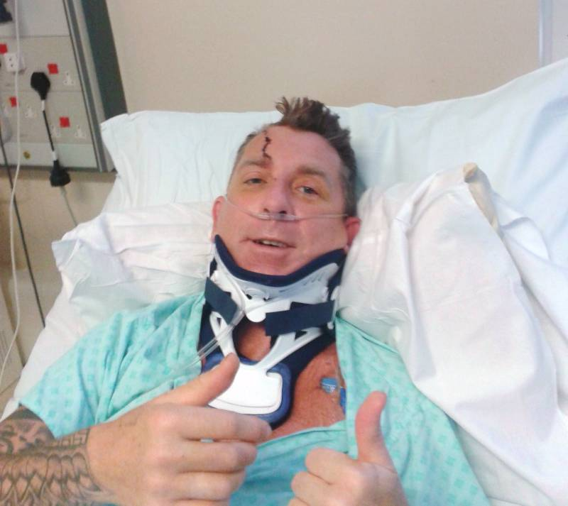 Scottie in hospital