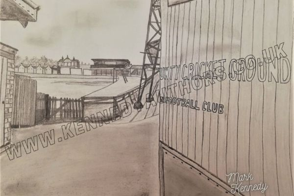 County Ground Gates by Mark Kennedy